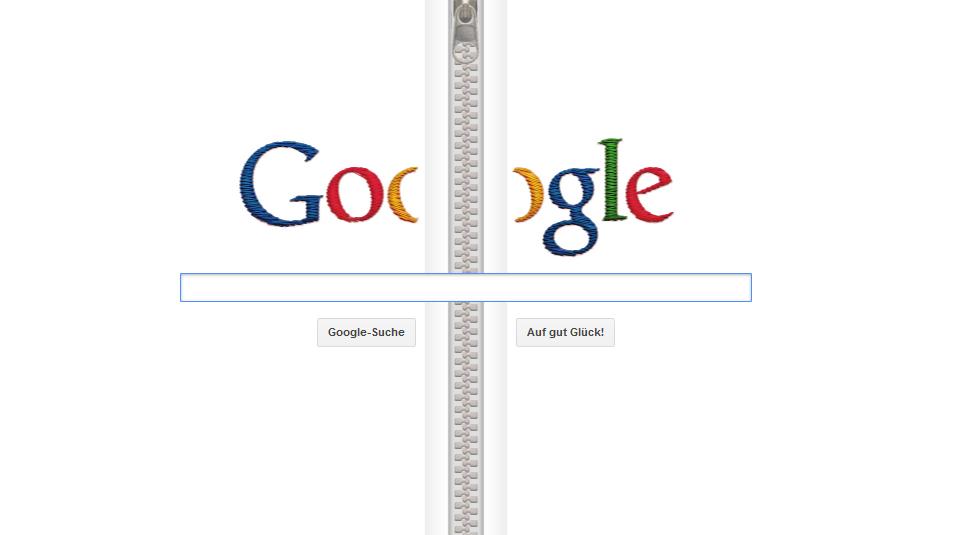google startseite mit rei verschluss 132 jahre gideon sundback. Black Bedroom Furniture Sets. Home Design Ideas