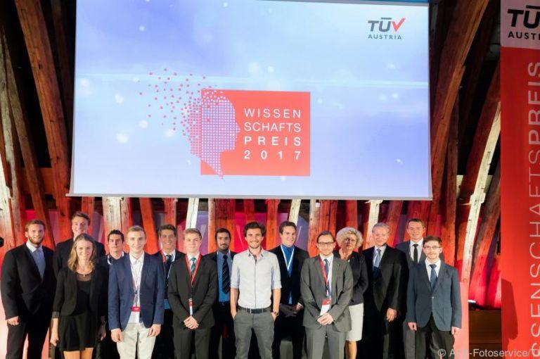 TÜV Austria vergab Wissenschaftspreise an Nachwuchstüftler