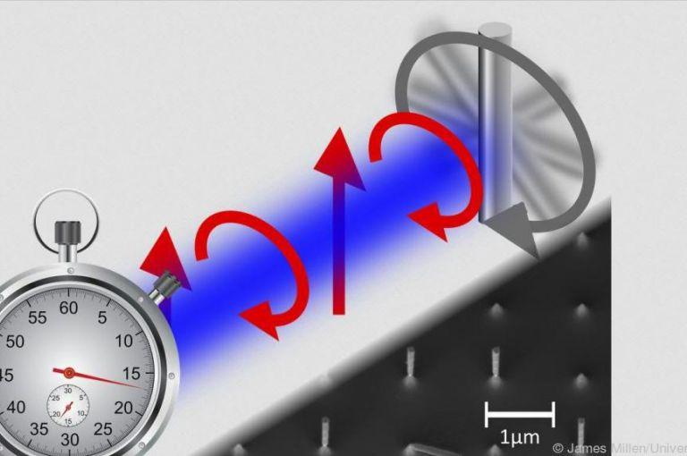 Forscher entwickelten schwebende Nano-Uhr