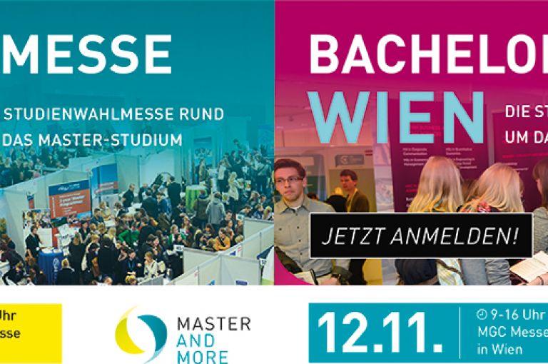 Bachelor & More sowie Master & More Bildungsmessen im November in Wien - Freikartencode