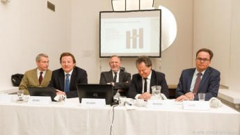 (v.l.n.r.): Leopold Öhler, Andreas Petzer, Christoph Zielinski, Ingo Raimon und Wolfgang Hilbe