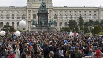 In Wien gingen im Vorjahr Tausende Personen auf die Straße