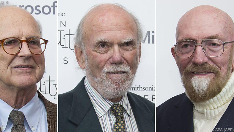 v.li.: Rainer Weiss, Barry Barish und Kip Thorne