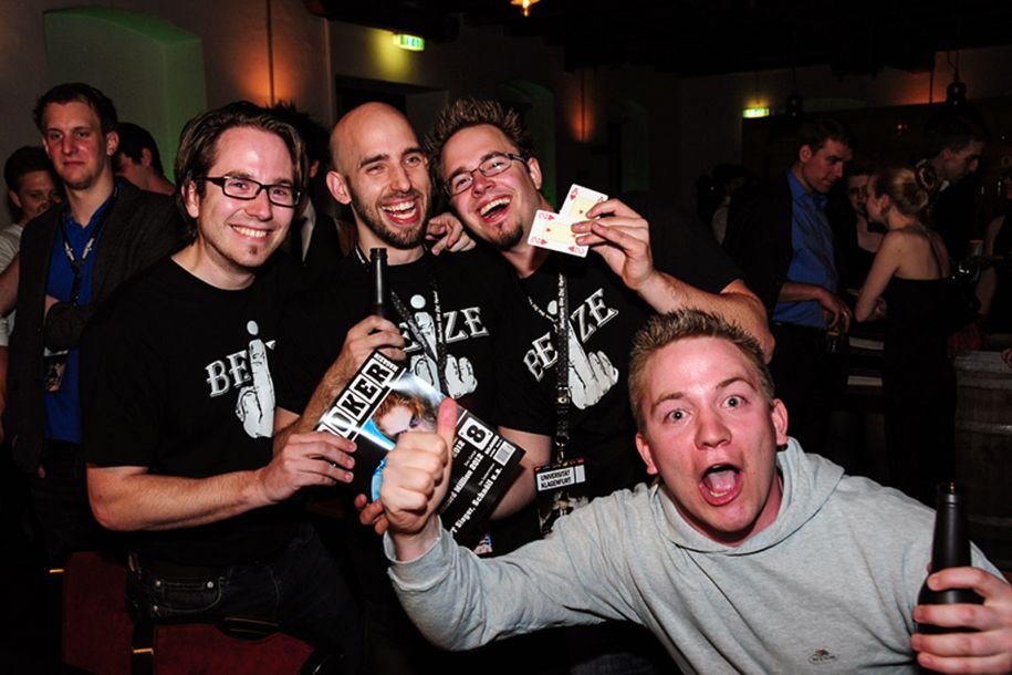 Wollen wieder jubeln in der Ottakringer Brauerei: Uni Klagenfurt 2 (Champs der HPS 3)